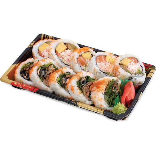 House speical roll combo with 10 pieces.