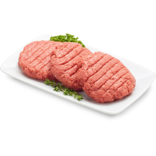 Western Canadian Premium Beef Burger Patties. Average weight per package, 170 Gram