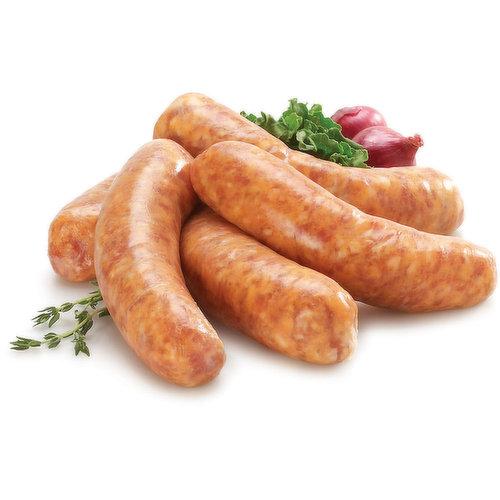Fresh Sausage, Mild Italian. Average weight per package, 115 Gram