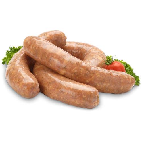 Fresh apple pork sausage.Average weight is 115g each.