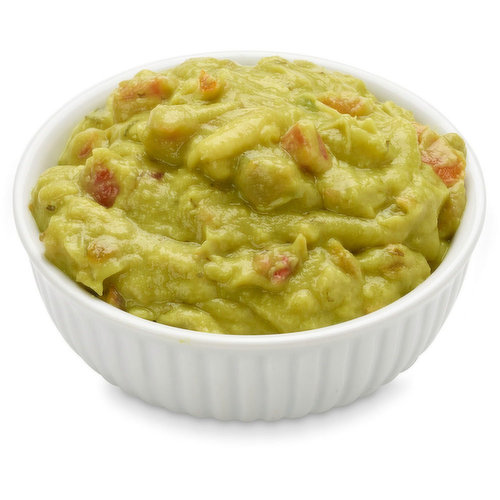 This guacamole is made with chunks of real Hass Avocado, tomato, onion and cilantro. That homemade taste without the hassle of tricky avocados.
