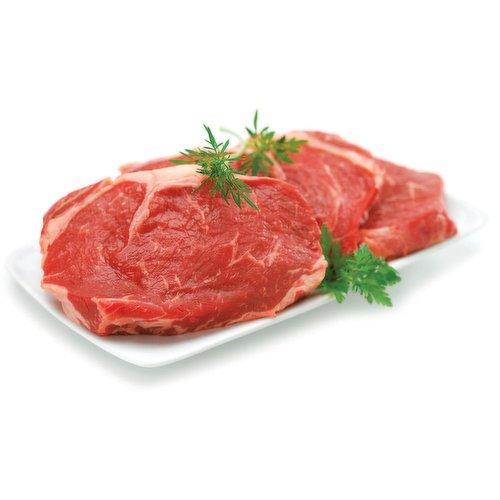 Fresh Rib Eye Steak. Average weight of each steak may vary. Average 2-3 pieces.