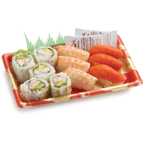 11 pieces larger size sushi combo.