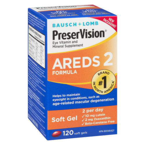 Helps support & maintain eyesight in age-related macular degeneration. 120 soft gels.