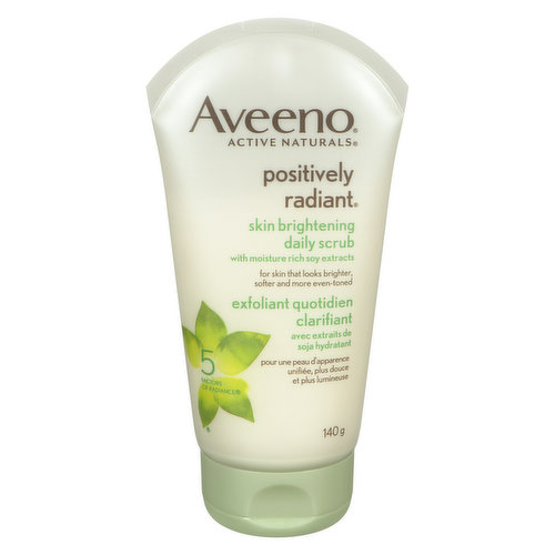 With Moisture-Rich Soy Extracts and Gentle Microbeads. Gently Exfoliates for Even Tone and Texture.