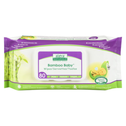 Ultra Soft, Extra Strong Wipes. Aloe Vera, Chamomile, Tea Tree and Lavender Oil. Gentle on Baby's Face, Body and Diaper Area.