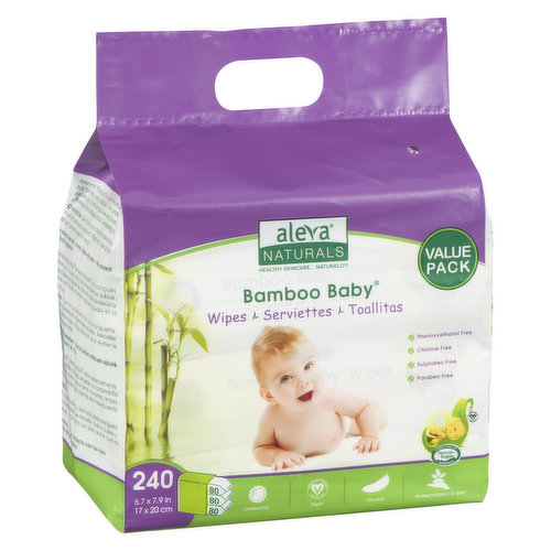 Ultra Soft, Extra Strong Wipes Enriched with Organic Aloe Vera, Chamomile, Natural Tea Tree and Lavender Oils. Gentle on a Baby's Face, Body and Diaper Area. With Flip Top Lids.