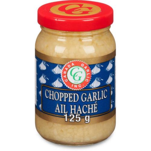 Canada Garlic. Jar of Minced Chopped Garlic