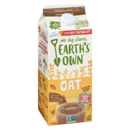 Oatastic for you, even better for our planet. This oat milk causes LOVE at first sip! Incredibly rich & creamy. Gluten , dairy, nut, soy & carrageenan free. Vegan friendly. Fair trade camino cocoa.