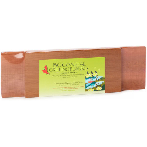 100%  Natural Western Red Cedar. Cedar Planked Salmon is Incredibly Moist and Tender.