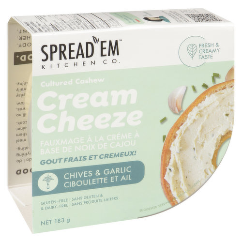 A dairy free cheese alternative this classic combination combines the flavours of Chive, Garlic and lemon.