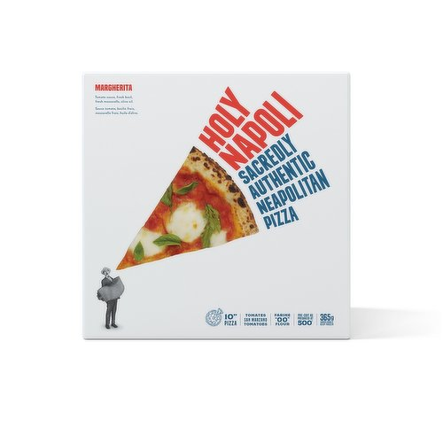 In the beginning, there was Holy Napoli Margherita pizza. Made in traditional Neapolitan pizzas image, all slices are created equal with San Marzano tomato sauce, fresh basil, fresh mozzarella, then anointed with olive oil.