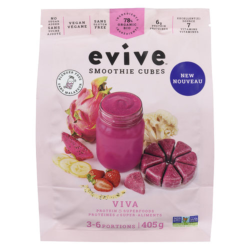 """See """"la vie en rose"""" with Viva! Delicate & sweet, this smoothie will carry you through your most beautiful childhood memories with its strawberry & banana flavour. The additional touch of cauliflower will nourish your mornings while pitaya brings"""