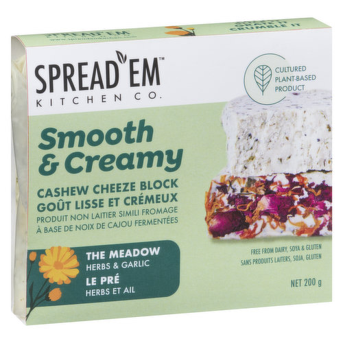 Substitute for dairy based cheeze. Finest herbs, seeds and edible flowers to create this fresh firm cheeze. Crumble it on salads, stuff it into pasta or just eat on a cracker.