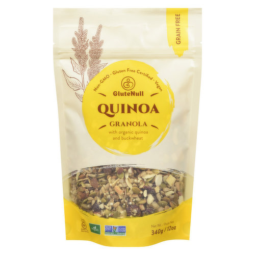 Using gluten free quinoa and buckwheat to create a grain free delicious and healthy granola.