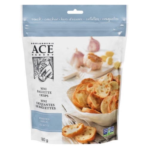A garlic-flavoured snack that combines our Focaccia dough with bits of mellow roasted garlic, brushed with extra-virgin olive oil and topped with crunchy sea salt.