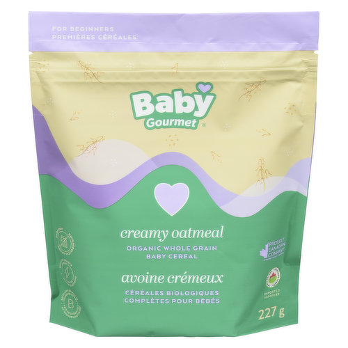 Bring the goodness of organic wholegrain oats to your baby's diet. Just add formula, breast milk or water for a deliciously creamy cereal. For Beginners. Resealable pouch.