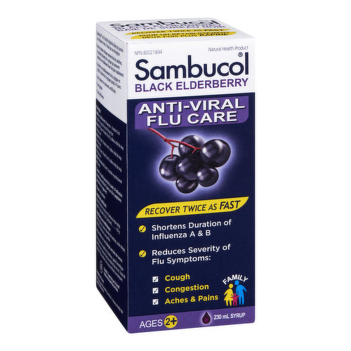 The unique black elderberry extract found only in clinically proven Sambucol provides  powerful antioxidants that not only boost the immune system but fights viruses preventing them from spreading.