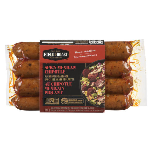 4 Portions Per Pack. A Blend of European and Asian Heritage with Smoked Chipotle and Chile de Arbol Peppers.