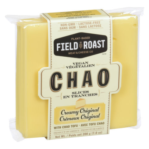 Coconut-based & seasoned with fermented tofu, dairy-free Chao Slices peel easily, shred well & melt like a dream. Bold flavor & bite, whether eaten alone or melted on one of our grain meats.