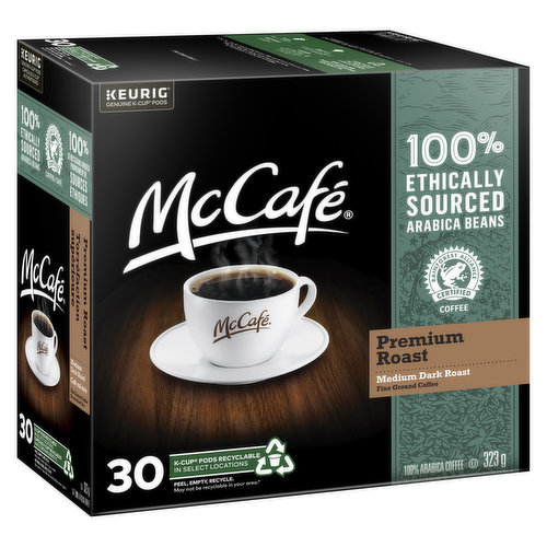 Made with 100% ethically sourced Arabica beans. Expertly roasted for a rich, smooth, & delicious flavor. 30 recyclable pods.