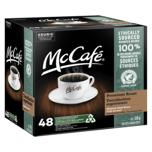 Made with 100% ethically sourced Arabica beans. Expertly roasted for a rich, smooth, & delicious flavor. 48 recyclable pods.