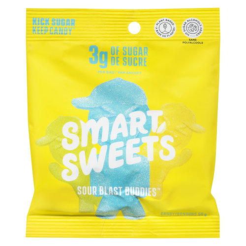 Gluten Free. Only 3g of sugar per bag.