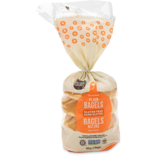 These Gluten Free bagels make a great breakfast or lunch. 100% plant based, Egg & Peanut free. Non-GMO & Vegan.