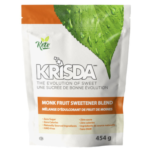 Enjoy the fresh and clean taste of Monk Fruit Sweetener in your favourite food and drinks. No bitter aftertaste, zero calories and only naturally sourced ingredients. Great for diabetics. Gluten free.
