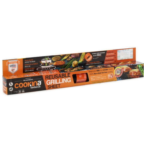 Keeps your BBQ and smoker clean. 100% Nonstick, fat free cooking! Alternative to aluminum foil. Ideal for grilling sticky marinated food. Reversible and easy to clean. 15.75in X19.68in.