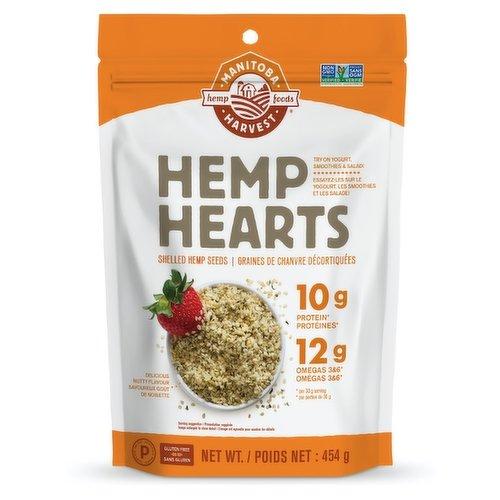 Raw Shelled Hemp Seeds. Sprinkle on Salad, Cereal and Yogurt. 15 Servings.