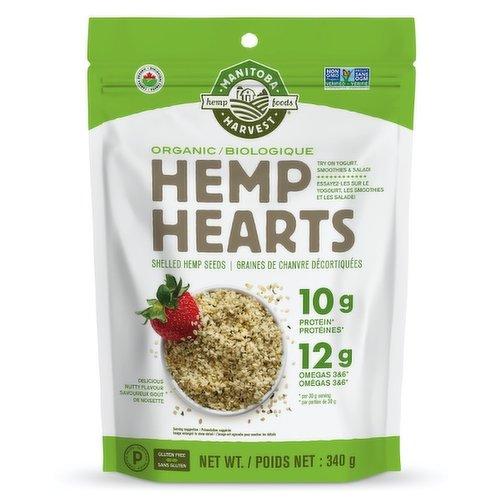 Raw Shelled Hemp Seeds. Sprinkle on Salad, Cereal and Yogurt. 11 Servings.