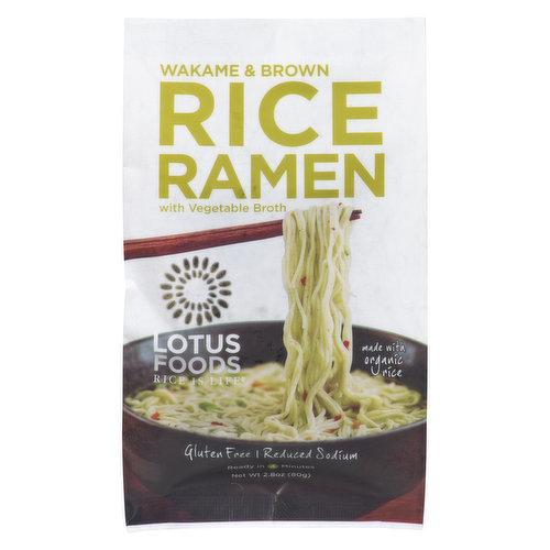 Made wit Organic Rice. Gluten Free. Reduced Sodium.
