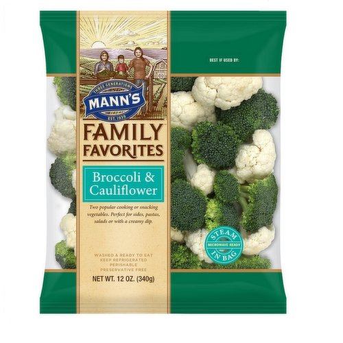 Perfect for side entrees, pastas, tossed in salads or with a creamy dip for snacking. Microwave ready.