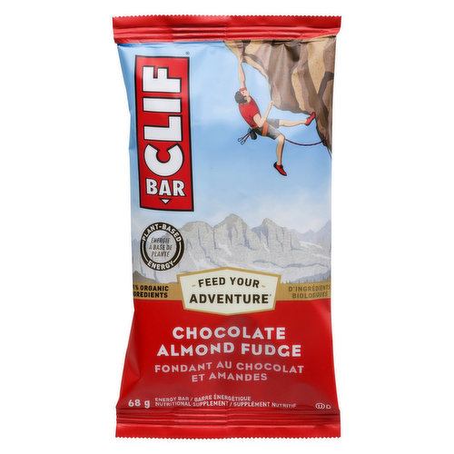 Made with 70% Organic Ingredients. Energy Bar. Nutritional Supplement.