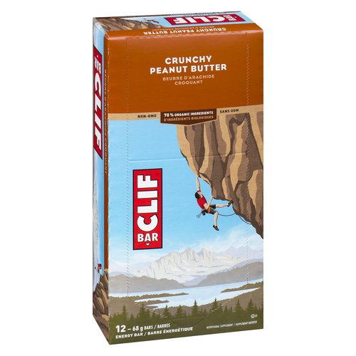 12x68g Bars. 70% Organic Ingredients. Non-GMO.  Great taste. Whether you're on a 250 km bike ride or exploring a new trail, this energy bar is built to sustain your adventure.