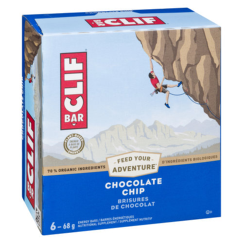 6 x 68 g Bars. 70% Organic Ingredients. Energy Bars. Nutritional Supplements.