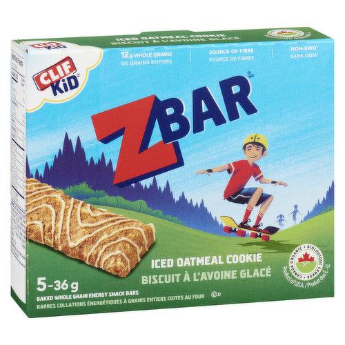 5x36 Baked Whole Grain Energy Snack. 9g Whole Grains per 36g Bar. Source of Fibre.