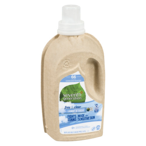 Its easy to grab, carry, & store. Concentrated so that you get more washes with less added water. EPA Safer Choice Certified & a USDA Certified Biobased Product 96% so you know its formulated with people & planet in mind. Plus, its free of fragrances, dyes, artificial brighteners, & dermatologist tested for sensitive skin. Finally, it does what you & your busy family need most from a laundry detergentfights tough stains. Its a clean youre going to love. Works in a standard or HE machine. 66 loads.