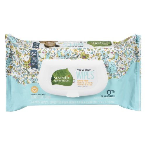 Safe for Baby Hands and Face. Made for Sensitive Skin. Soft & Gentle Clean. Fragrance Free.