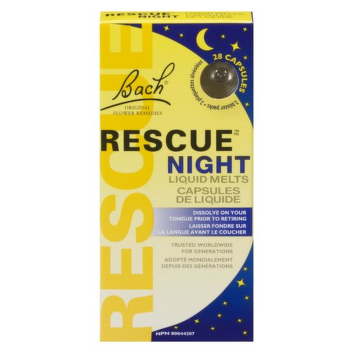 Dissolve on your tongue prior to retiring. The fast-dissolving capsule quickly releases 4 drops of Rescue Sleep to help you enjoy a natural nights sleep. Trusted worldwide for generations.