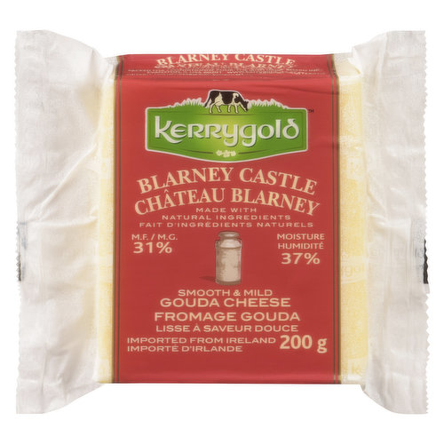 Smooth & Mild Gouda Cheese. Made with Natural Ingredients. Imported From Ireland.