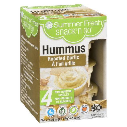 4x57g  Mini Hummus singlesVegetarian, Gluten Free, Lactose Free