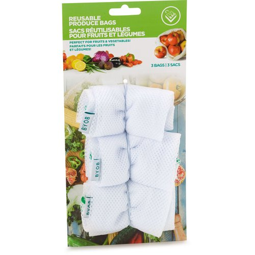 Resuable Produce Bags Pefect for Fruits & Vegetables.