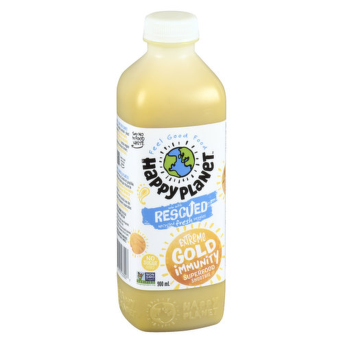 Truly gold! Made with bananas, mangoes, pineapple, passionfruit, lemons, ginger & turmeric - also coconut cream & black pepper which helps to access the good stuff in Turmeric. Non-GMO. No sugar added