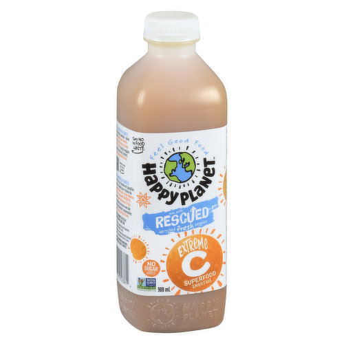 This smoothie is made with guava, orange, camu camu, acerola and baobab. All the juicy vitamin C-laden fruit a little bottle could absorb.