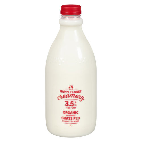 Organic and grass-fed, this 3.5% milk is the perfect choice for a rich latte and cappuccino experience or to make that perfect cup of regular drip.