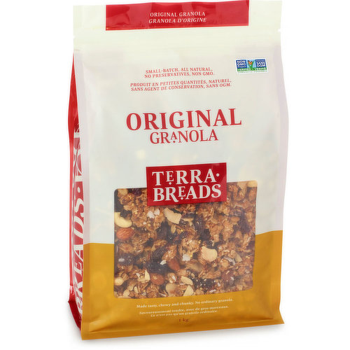 Local Product. Available in Bakery Dept. A Mix of Quality Ingredients Like Whole Grains, Oats, Cashews, Almonds, Coconut, Cranberries, Raisins, Dates and Honey, Many of them Organic.