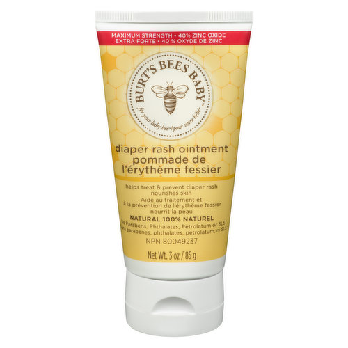 Formulated with almond and sunflower oils,  leaving babys skin feeling soft and smooth, naturally. Helps treat and prevent diaper rash.    No phthalates, parabens, or petrolatum. Pediatrician tested.