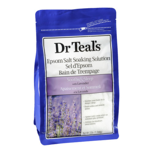 Soothe and Sleep with Lavender. Soothes Your Body for a Deeper Sleep. Eases Aches and Muscle Pains.